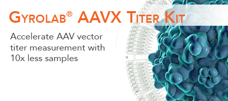 Gyrolab AAVX Titer Kit less height