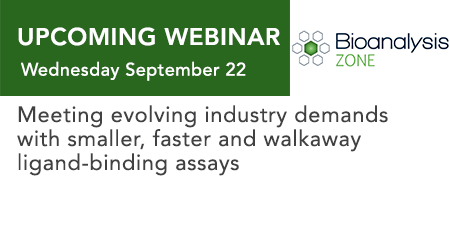 Meeting evolving industry demands with smaller, faster and walkaway ligand-binding assays