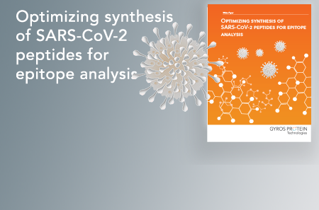 widget Optimizing synthesis of SARS-CoV-2 peptides for epitope analysis